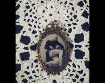 Handmade jewelry, vintage Romance brooch