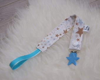 Pacifier Star Blue beige taupe