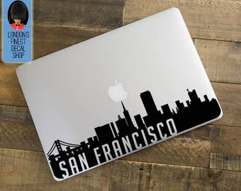 San Francisco City Skyline Macbook / Laptop Decal
