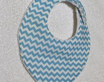 the shape graphic Blue and white bandana bib