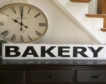 Bakery sign  black and white distressed