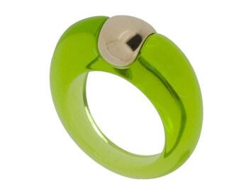 Ring peridot color
