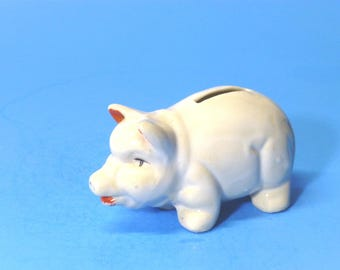 Small Ceramic Pig Bank  Japan 1930's