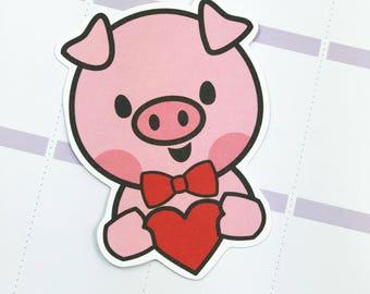 Pookey In Love Die Cut l Card stock Die Cut l Valentines Day Die Cut l Planner Goodies l In Love Die Cut l Artwork Die Cut l Planner Die Cut