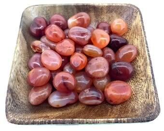 Carnelian Tumbled - Tumbled Carnelian - Root Chakra - Sacral Chakra - Reiki - Energy Healing - Crystal Healing
