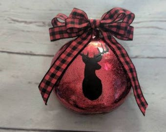 deer ornament/ rustic Christmas/ ornament for child/ personalized Christmas gift/plaid Christmas
