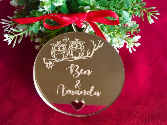 Personalized Ornament Custom Valentines Gifts For Couples Our First Valentines Day Personalised Bauble Tree Decorations Boyfriend Girlfriend