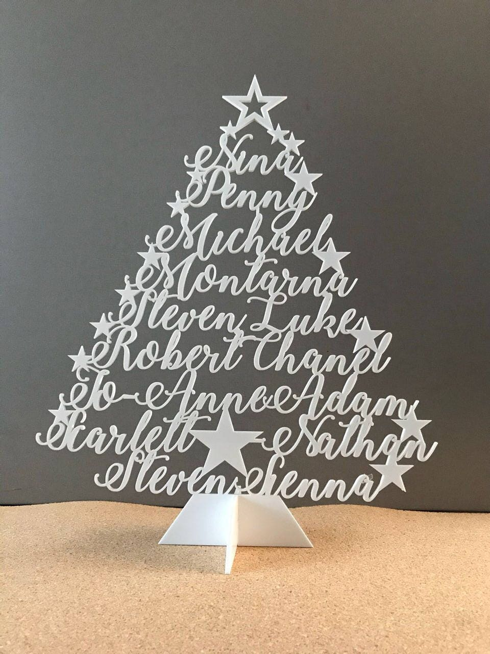 Personalized Christmas Family Name Tree Ornament Laser Cut ...