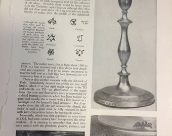 British Provincial Silver Hallmarks Antiquarian MAGAZINE ARTICLE 1928
