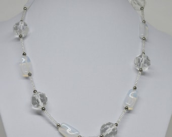 Gorgeous Lucite Glass Beaded Necklace