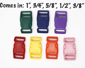"Colored Buckles Add-on | Sizes: 1"", 3/4"", 5/8"", 1/2"", 3/8"""