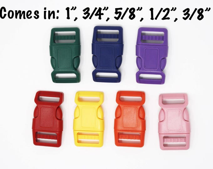 "Featured listing image: Colored Buckles Add-on | Sizes: 1"", 3/4"", 5/8"", 1/2"", 3/8"""