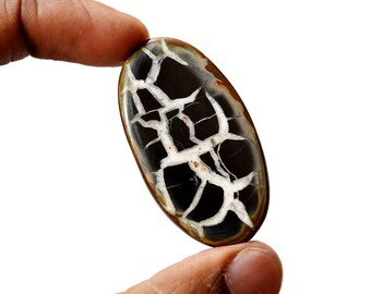 Septarian 62 Cts Natural  Top Quality Gemstone Cabochon Oval Shape 47x26x5 MM R14651