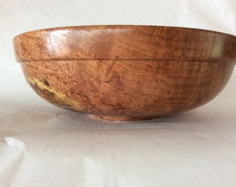Hand-turned mesquite wood bowl, wooden salad bowl, handmade fruit bowl