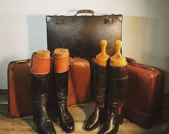 Vintage Handmade Leather Riding Boots