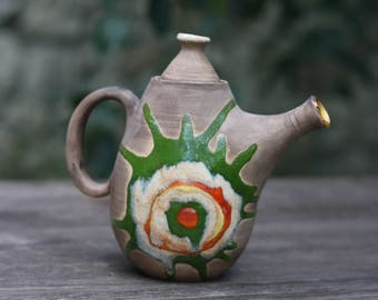 Gift|for|family Christmas gift Teapot Tea pot Tea set Hostess gift Gift for mom Ceramic teapot Anniversary gift Pottery teapot Mother gifts