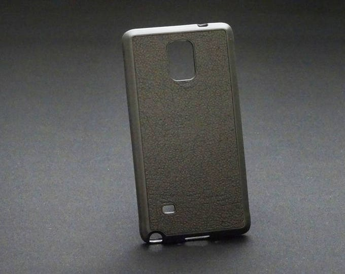 Samsung Galaxy Note 4 - Jimmy Case in Black Texture - Kangaroo leather - Handmade - James Watson