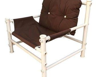 Vintage PVC Pipe Lounge Chair