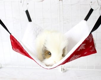 Ferret Hammock - Rat Hammock - Chinchilla Cage Accessories - Ferret Cage - Ferret Gift - Rat Lover - Chinchilla Gifts - Guinea Pig Bed