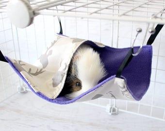 Pocket Hammock - Single Pocket Hammock - Rat Hammock - Rat Cage Accessories - Ferret Hammock - Chinchilla Hammock - Ultraviolet Woodlands