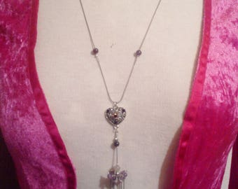 Cascading amethyst and Moonstone necklace