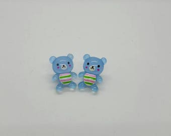 Kawaii teddy bear earrings  (ER083)