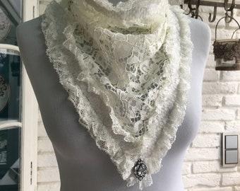 Shawl, scarf, shabby, romance, triangular cloth