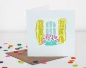 Window Greeting Card - Sqaure