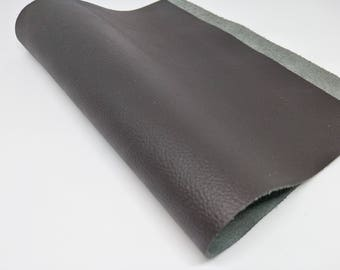 Leather Scrap, Genuine Leather, Leather Pieces, Brown, Size 21.5 cm. by 33 cm., Leather Scrap for DIY Projects.