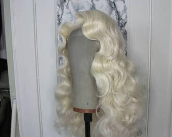 Platinum Classic Glam Side Part Custom Wig Style