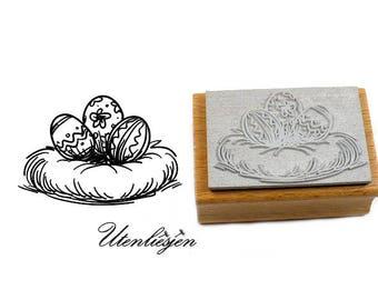 Stamp easteregg basket, 30 x 45 mm