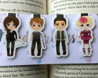 Girl on Fire Magnetic Bookmarks