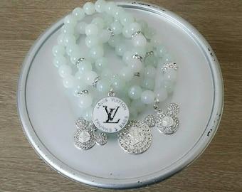 Designer Inspired White Mickie charm set