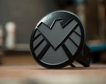 Agents of Shield Trailer Hitch Cover- Blacked Out