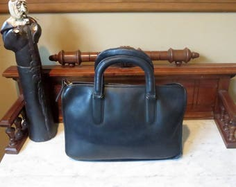 Coach Black Leather Slim Satchel Large Style No. 9430 - IPad Electronic Notebook Case-VGC- Made in New York City U.S.A.