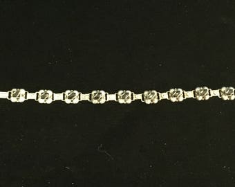 Vintage Mexican Sterling Silver Necklace with Rectangular Onyx Stones
