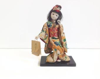 vintage geisha doll, japanese doll