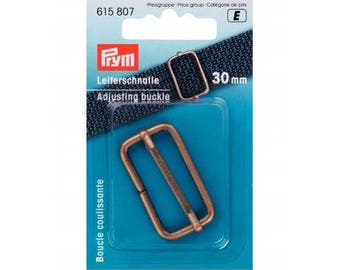Sliding 30 mm brass buckle