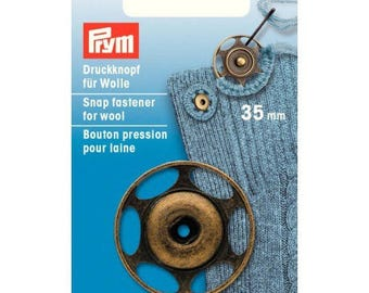 Snap sewing wool 35 mm brass