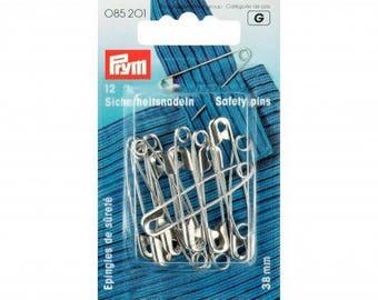 38 mm steel safety pins