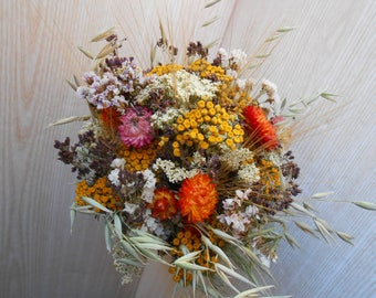Dried flower bouquet , Dried Flowers Fall Colors , Wedding Flowers , Rustic flower bouquet , Natural flower decor , Rustic Wedding Decor