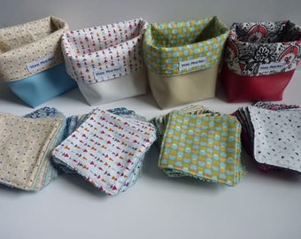 9 wipes washable and reusable basket / wipes cleansing and eco-friendly/square sponge