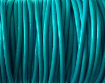leather cord 2 mm blue PR0600 100 m