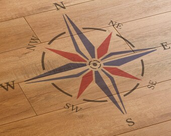 CraftStar Nautical Compass Rose Stencil - Large Reusable Compass Stencil