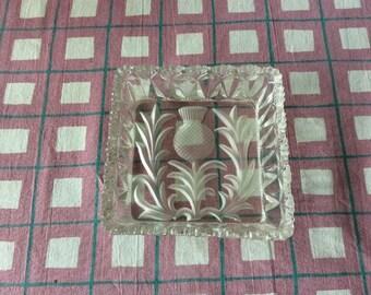 pressed glass pin dish