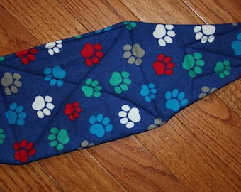 Belly Band, Male Dog Diaper, NEW DESIGN quilted for training, incontinence, marking, tapered ends - Big Paws - by angelpuppi