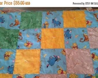50% OFF SALE Winnie Pooh Baby Quilt