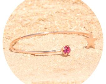 artjany Bangle fuchsia rose gold
