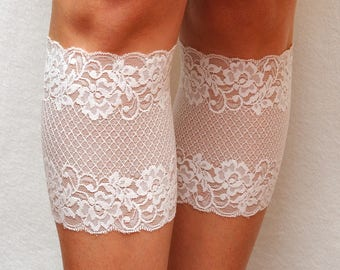 Girlfriend gift|for|her Bridal Lace Boot Cuffs White boot socks Lace Boot toppers Boot cover lace leg warmers Lace cuffs bridesmaid gift