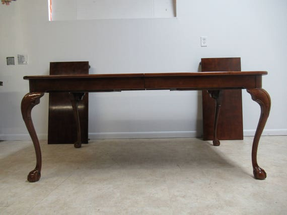 henredon cherry ball claw banquet dining conference table, Esstisch ideennn